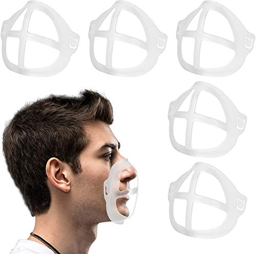 ZDU 3D Mask Bracket Inner Support Frame Nasal Pad Support Bracket Breathing Mouth and Nose Protection Lipstick Increase Breathing Space Help Breathe Smoothly 5Pack