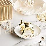 Asttic Titolare di Golden Pig Anello L'anello di ceramica Piatto Jewelry Trinket Piatto titolare gioielli Piastre orecchini del braccialetto della collana di anello di accumulazione stand della porcel