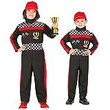 Widmann 52596 52596-Kinderkostüm Formel 1 Fahrer, Overall, Rennfahrer, Sportler, Mottoparty, Fasching, Karneval, Mehrfarbig, 128 cm