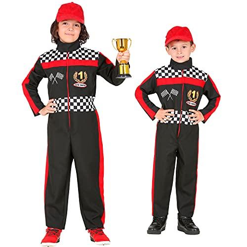 WIDMANN 52596 52596 - Disfraz infantil de Frmula 1 (128 cm, 5 - 7 aos), diseo de motorista, multicolor