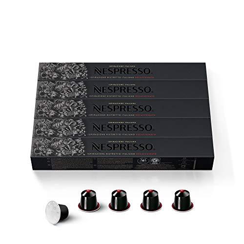 Nespresso Capsules OriginalLine,Ispirazione Ristretto Decaffeinato Italiano, Dark Roast Espresso Coffee, 50 Count  Espresso Coffee Pods, Brews 0.85oz