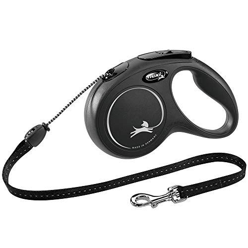 flexi New Classic M Seil 5 m schwarz für Hunde bis 20 kg
