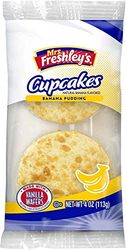 Mrs. Freshley's Cream Filled Cakes, Individually Packaged (Banana Pudding, Pack of 6)
