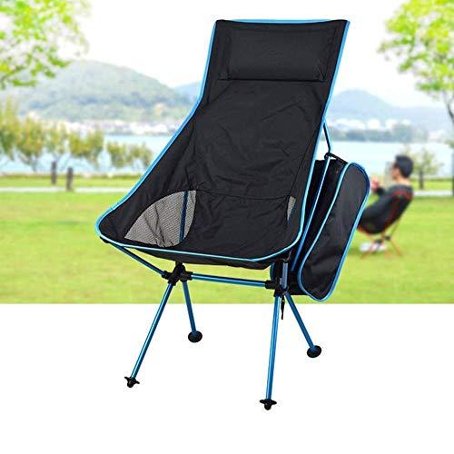 LHY Draagbare campingstoel, zware klapstoel, stevig en comfortabel, multicolor, naar keuze beweegbaar, kleur: B bedrijf