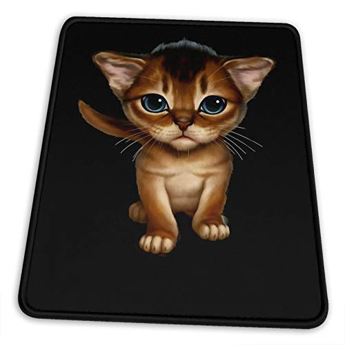 Cataclysm Abyssinian Kitten Cat Lover Electronic Sports Office Gaming Learning Rubber Non-Slip Mouse Pad