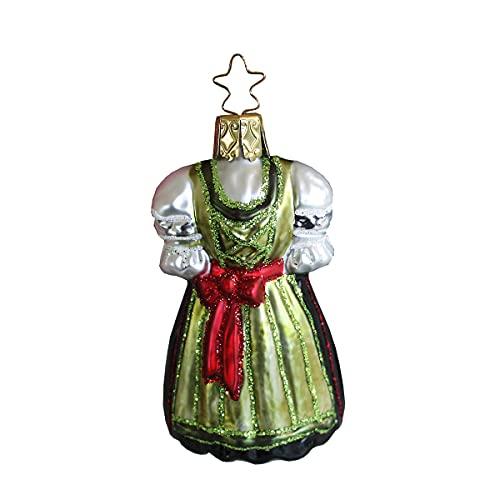 Inge-glas - Decorazione per albero di Natale Dirndl, colore: Verde