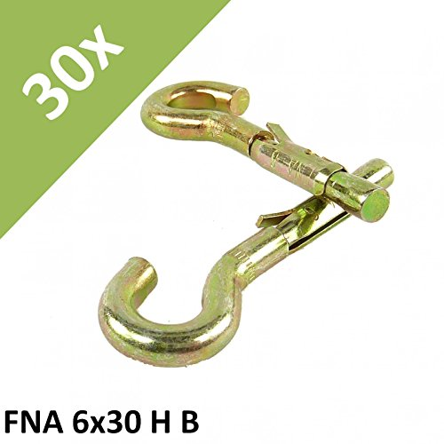 Fischer Nagel Anker FNA 6x30 HB #62612 Einschlag Schlag Schwerlast Dübel Haken - Bestell-Menge: 3) 30 Stück (3-Pack)