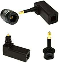 Digital Fiber Optic Toslink to 3.5mm Jack Mini Toslink Plug Adaptor Digital Optical Toslink Digital Optical Audio Extension Cable Adapter