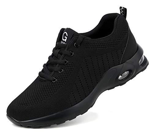 tqgold Sicherheitsschuhe Herren Damen S3 Leicht Arbeitsschuhe mit Stahlkappe Atmungsaktiv Schutzschuhe Comfortable rutschfeste Schuhe