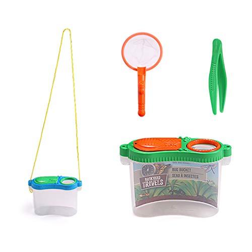 WOWOWO Observador de Insectos portátil, Lupa para niños, Caja de observación de Juguete, Suministros de Equipo de exploración para experimentos al Aire Libre para niños