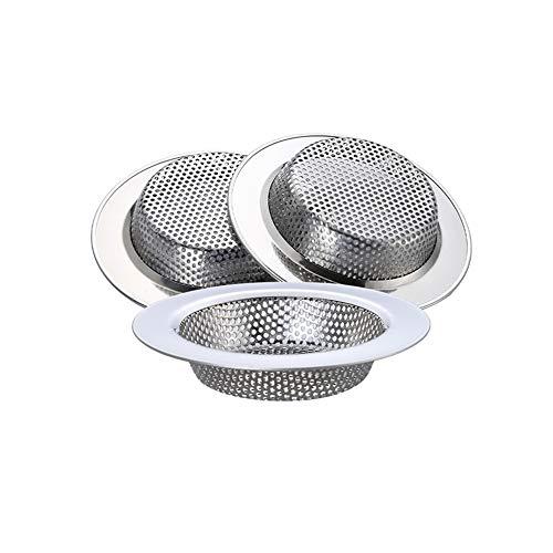 """WINDALY Filtro per Lavello da Cucina, Cucina Sink Strainer in Acciaio Inox, 304 Con Bordo Largo 4,5""""/11,4cm Per Lavelli Da Cucina o Vasca da Bagno(3 Pcs)"""