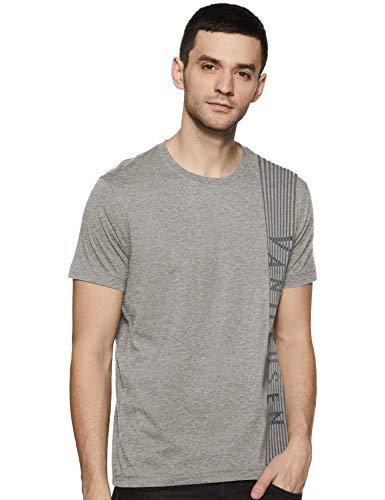Van Heusen Athleisure Men's Regular fit T-Shirt (60044_Grey Melange XL)