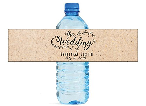 """100 """"The Wedding"""" Wedding Anniversary Water Bottle labels Engagement Party Birthday"""