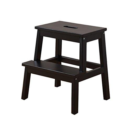 Tritthocker Klappstufen Hockerleiter Holz Massivholz-Haushalts-Ladder-Schemel Dual-use Multifunktions bewegen Sie die Regale ändern Sie Schuhe Stuhl (Länge: 38CM, Breite: 25CM, Höhe: 46.5CM)