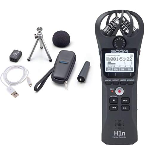 Zoom H1 24bit 96kHz Negro grabadora de audio digital - Accesorio de audio (2 Ω, 39 dB, 24 bit, 96 kHz, USB, Negro)