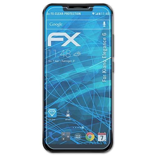 atFolix Schutzfolie kompatibel mit Kiano Elegance 6 Folie, ultraklare FX Bildschirmschutzfolie (3X)