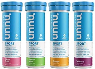 4-Tubes Nuun Hydration Electrolyte Drink Tablets