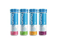 Nuun Sport is an Electrolyte-Rich Sports Drink Tablet, enhanced with electrolytes and bursting with a natural, low-calorie fruity flavor. Mix with water for a hydrating beverage to keep you powering through your next workout. Nuun Sport Drink Tablets...
