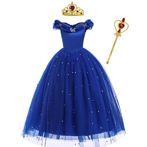 Disfraz de Cenicienta para niñas, disfraz de princesa, mariposas, carnaval, Halloween, cosplay, fiesta de cumpleaños, Navidad, vestido de baile con accesorios
