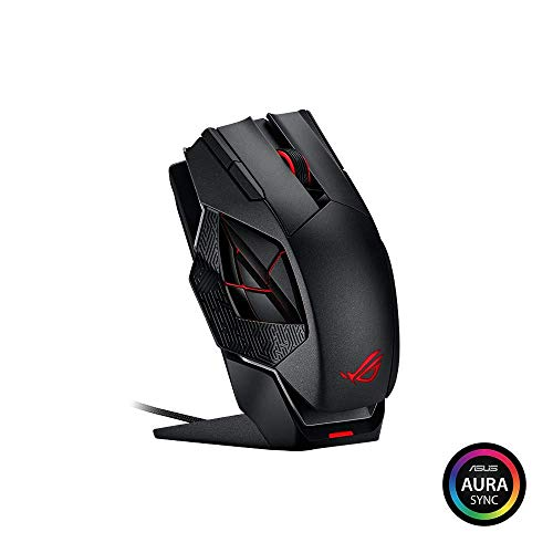 ASUS ROG Spatha Mouse Gaming Wireless, 8200 DPI, 12 Pulsanti Programmabili, Aura SYNC RGB, Memoria Flash Integrata