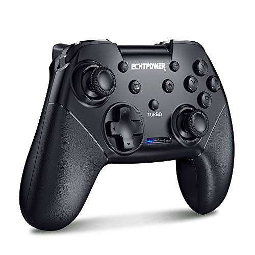 Bluetooth Wireless Pro Controller mit Turbo, Dual Shock 6-Gyro Achse 600mAh Wiederaufladbar Akku Remote Gamepad
