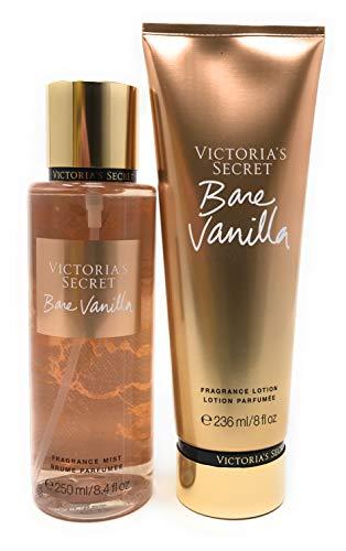 Victoria's Secret Bare Vanilla Body Mist and Fragrance Lotion Set