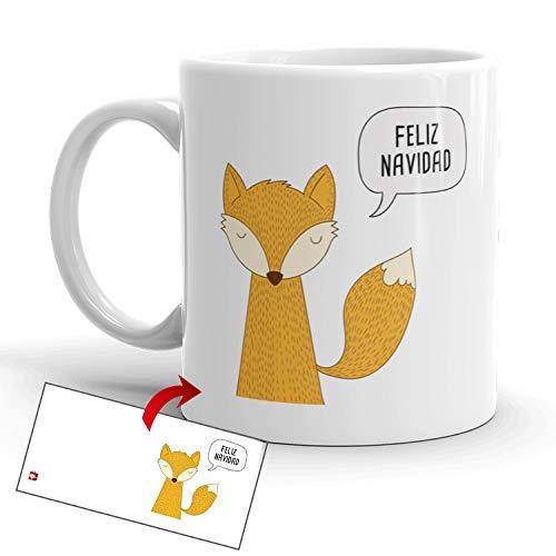 Kembilove Tazas de Desayuno de Navidad – Taza de Café y Té con Mensaje Feliz Navidad para Fiestas Navideñas – Regalos...