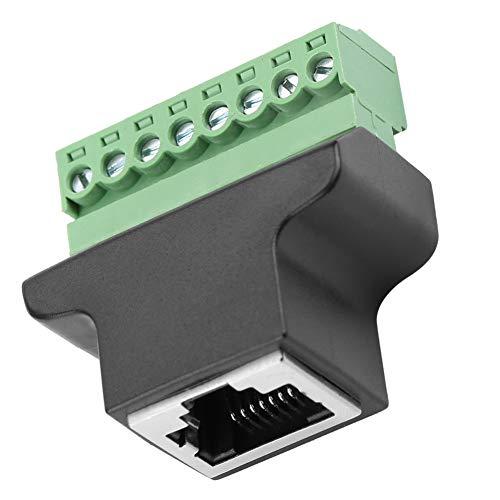 Robusto connettore Ethernet RJ45 da 220 V femmina a vite per terminale leggero 8P8C Connettore adattatore DVR digitale a 8 pin elettrico per interfaccia di rete