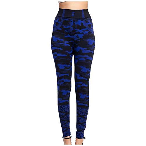 Zilosconcy Leggings Pantalones de Yoga Elásticos y Transpirables Push Up Camo Stripe Leggings Mujer Control de Abdomen para Fitness Yoga 7-2