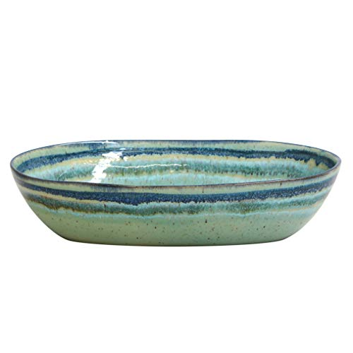 Casafina Sausalito Collection Stoneware Ceramic Oval Serving Bowl 12.5