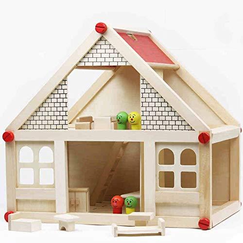 Casa de Muñecas DIY Desarrollo De Muebles Casa De Muñecas De Muñecas De Juegos De rol Y Habilidades Imaginativas Regalo para Tus Hijos (Color : White, Size : 40x27x37.5cm)