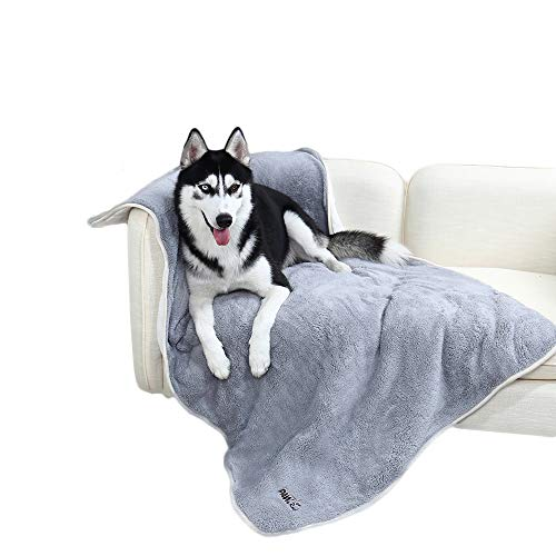 PAWZ Road Dikke Hond Fleece Deken zacht, Grote Warme Pet Hond Dekens wasbaar voor katten honden Grijs 150x100cm