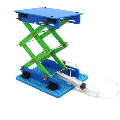 FEICHAO DIY Spielzeug Modell Hydraulische Hebeplattform Kinder Spielzeug Schere Hubtisch für Kinder Wissenschaft Technologie Geschenk