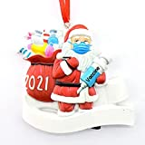 Hopowa Familie Schneemann mit Maske, Baumschmuck Weihnachten,2021 Personalisierte Weihnachtsschmuck Kit,Weihnachtsbaum Anhänger
