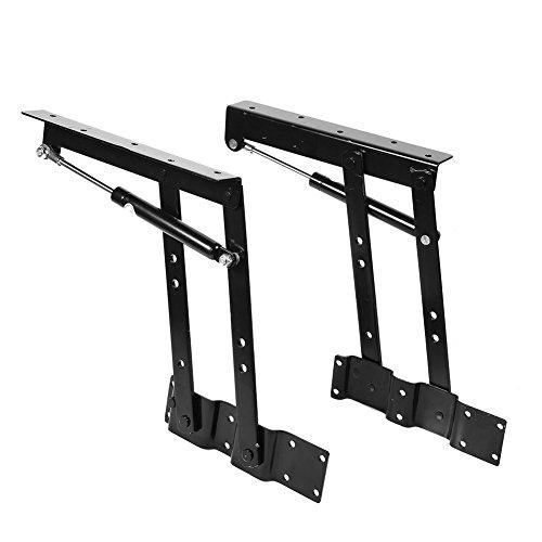 Atyhao Bisagras de elevación Plegables, 2 uds, 50 kg/100 LB, bisagra de Montaje de Hardware con Mecanismo de Marco de...