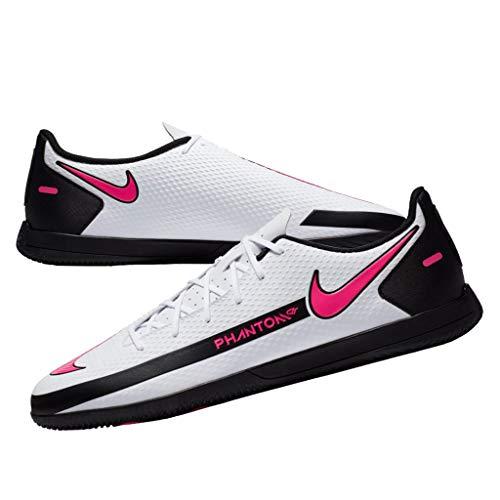 Nike Phantom GT Club IC, Scarpe per Calcetto a Cinque Uomo, Black White Pink Blast, 44 EU