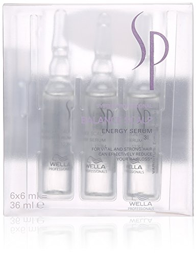 Wella SP 0000001895 Balance Scalp Energy Serum, Serum per capelli, 6 Fiale