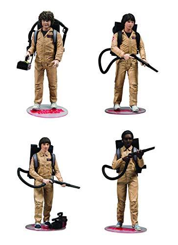 McFarlane- Stranger Things Pack Figuras Dustin, Mike, Will & Lucas Cazafantasmas, Multicolor, 15 cm (MAR187206)