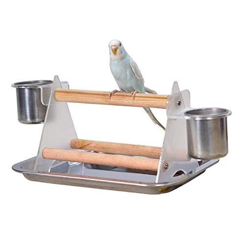 【 すぐ届く 】iikuru インコ ケージ 止まり木 スタンド 鳥 とまり木 鳥かご グッズ 小鳥 遊び場 食器 付き y438