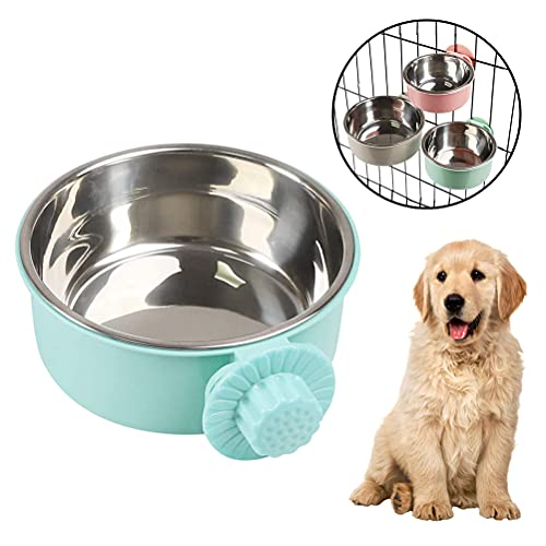 buycheapDG(JP) 犬用ボウル ペット用ボウル 転倒防止 ペット食器 取り外し可能 猫、犬、鳥、マウスに適しています 吊り下げ式 固定式犬用ボウル 飲食用噴水 ゲージ用 s/m/l ステンレス製 1個