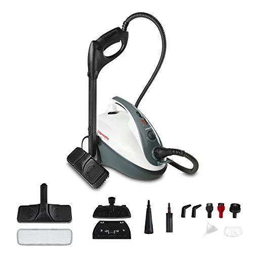 Polti Vaporetto Smart 30_S Limpiador a vapor, 3 Bar, Mata y elimina el 99.99% * de virus, gérmenes y bacterias compartimento para accesorios integrado, 1800 W, Gris y blanco