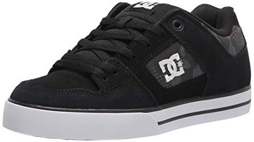 DC Men's Pure Skate Shoe, Black/Grey ,43 EU
