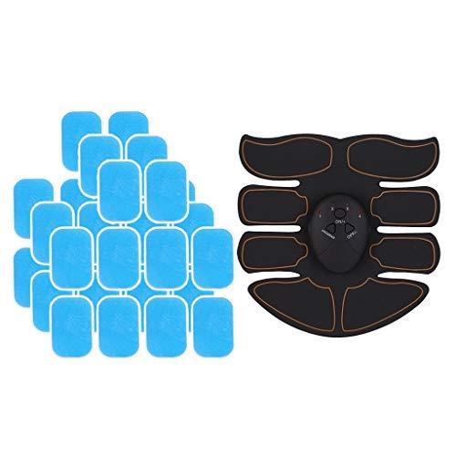 LEIPUPA Estimulador Elétrico Abs Slim Cinto de Tonificação para Treinamento de Músculo Abdominal Aparador de Cintura