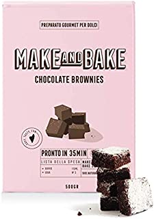 Preparato per Chocolate Brownies [Preparato in polvere 100% naturale Made in Italy per brownies] Dolci americani facili e ...