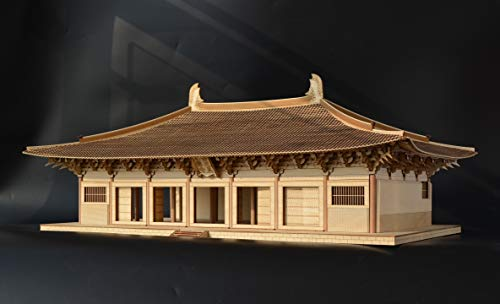 Old Cat Model 7504 1/75 The Main Hall of Foguang Temple 3D Wooden Puzzle Chinese Historic Architecture DIY Model kit, lerning Toy for Adults and Children Over 14 Years Old
