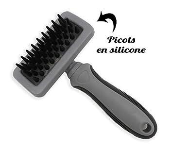 Vetocanis Brosse de toilettage, Brosse de massage en silicone pour Chat, Doux et efficace, Tous type de poils