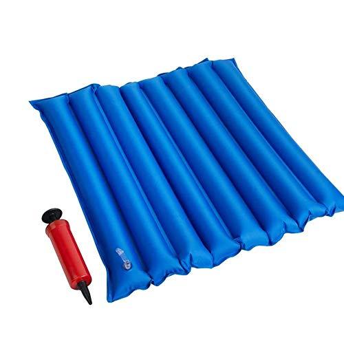 Opblaasbaar kussen PVC antidecubitus Wafel lucht zit mat afgedichte constructie voor rolstoelgebruikers met pomp voor rolstoelgebruikers, toilet en Bettpflege2pcs