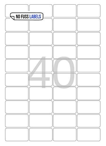 Mat wit polyethyleen permanente lijm. A4-etiketten, Hoeveelheid 500 vel, Geen zekeringsetiketten 40/45