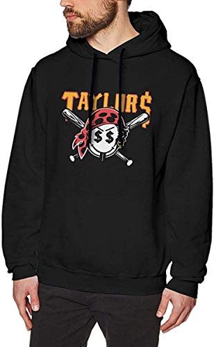 JosephineGrimes Men's Long Sleeve Hooded 3D Print Taylor Gang Taylors Smiley Pirate Face Pullover Hoodies,Small Black