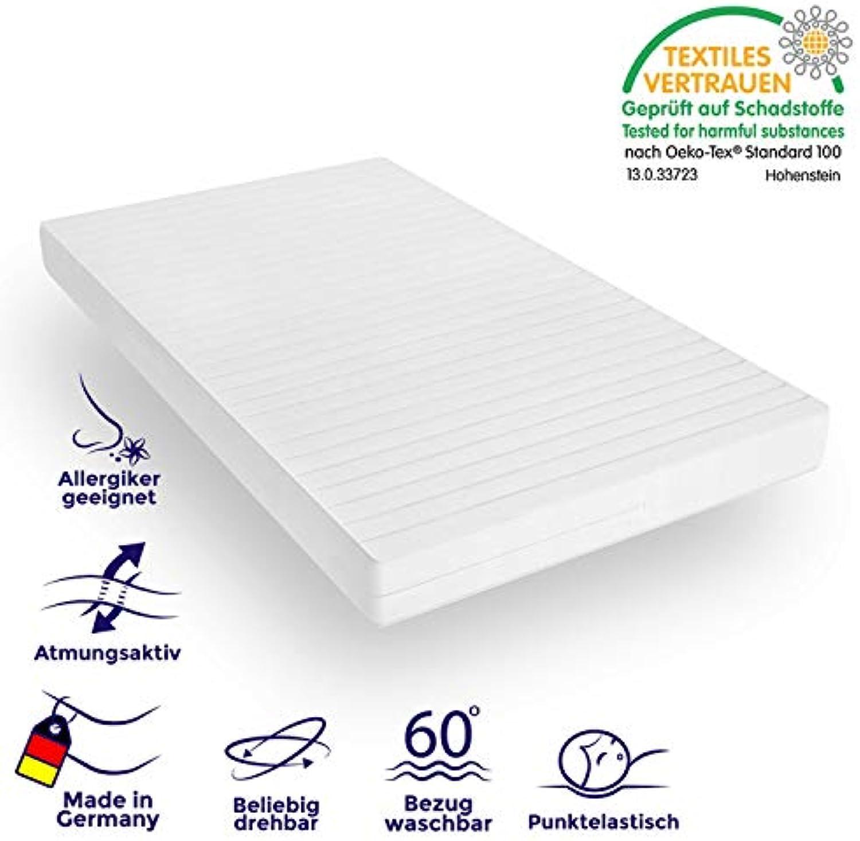 Mister Sandman ergonomische 7-Zonen-Matratze für erholsamen Schlaf - Kaltschaummatratze mit hochwertigem Mikrofaserbezug, 2in1 Hrtegrad H2&H3, Hhe 15cm, H2 140 x 200 cm